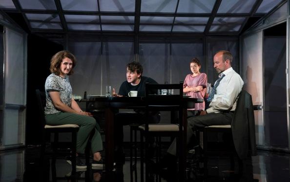 Ali White (Mam), Paul Mescal (Bryan), Lauren Coe (Emma) and Frank McCusker (Dad)