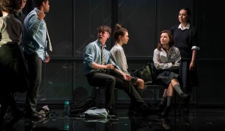 Kwaku Fortune (Eli), Darragh Shannon (Dylan), Venetia Bowe (Zoe), Lauren Coe (Emma) and Sile Maguire (Ali)