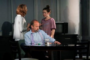 Ali White (Mam), Frank McCusker (Dad) and Lauren Coe (Emma)